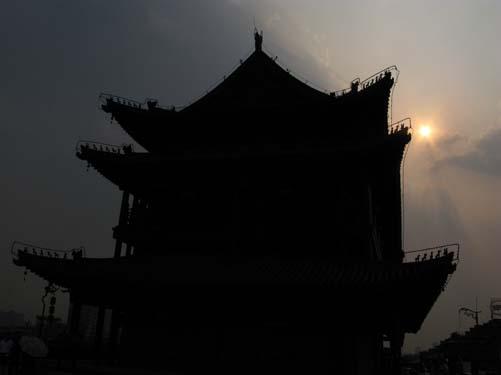 chi silhouette sun